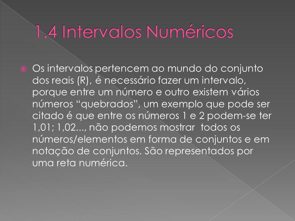 1.4 Intervalos Numéricos