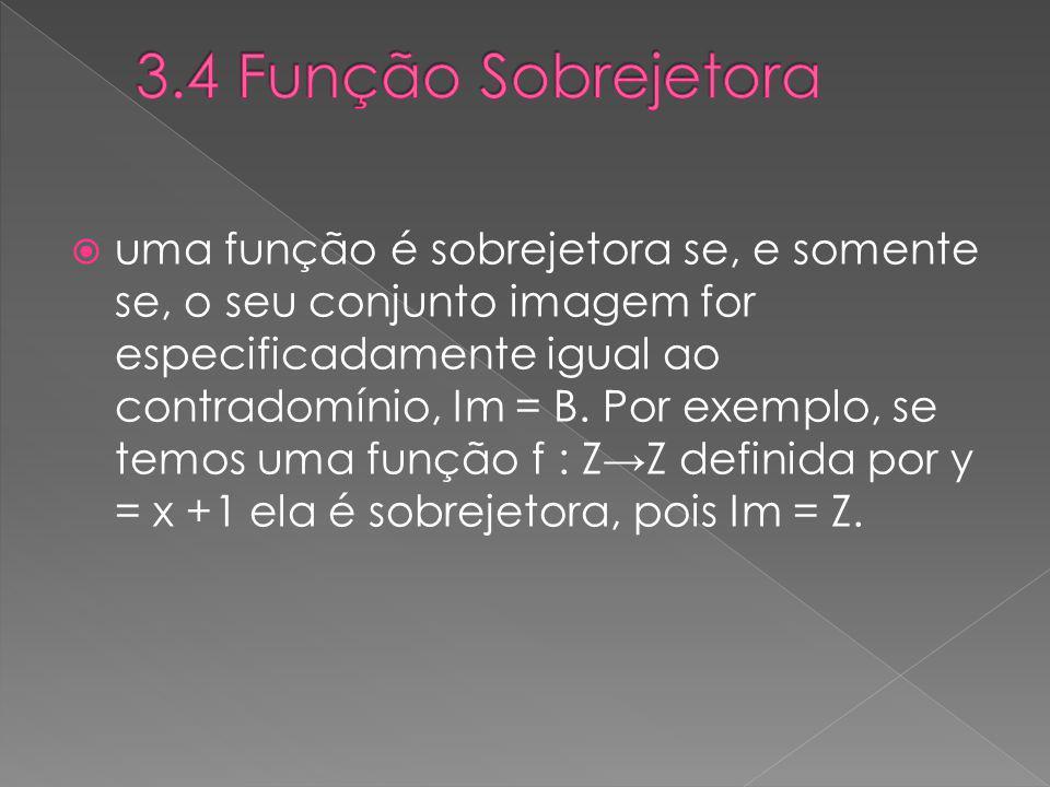 3.4 Função Sobrejetora