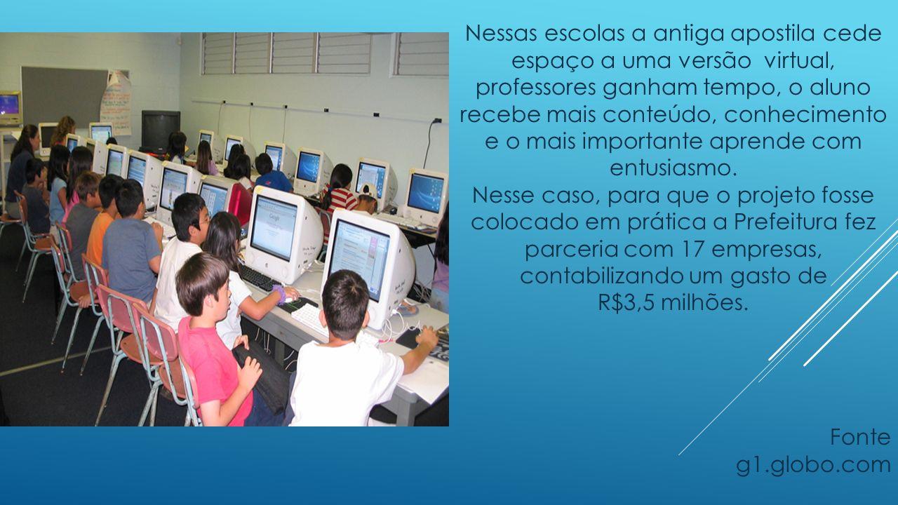 Nessas escolas a antiga apostila cede espaço a uma versão virtual, professores ganham tempo, o aluno recebe mais conteúdo, conhecimento e o mais importante aprende com entusiasmo.