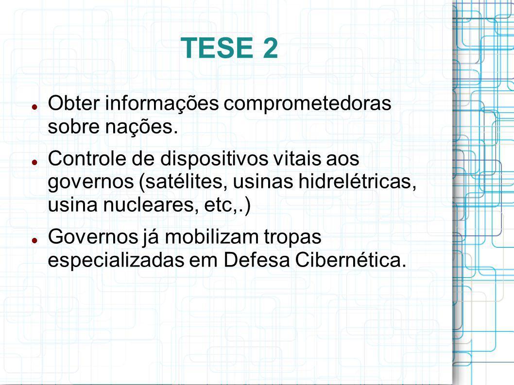 TESE 2 Obter informações comprometedoras sobre nações.