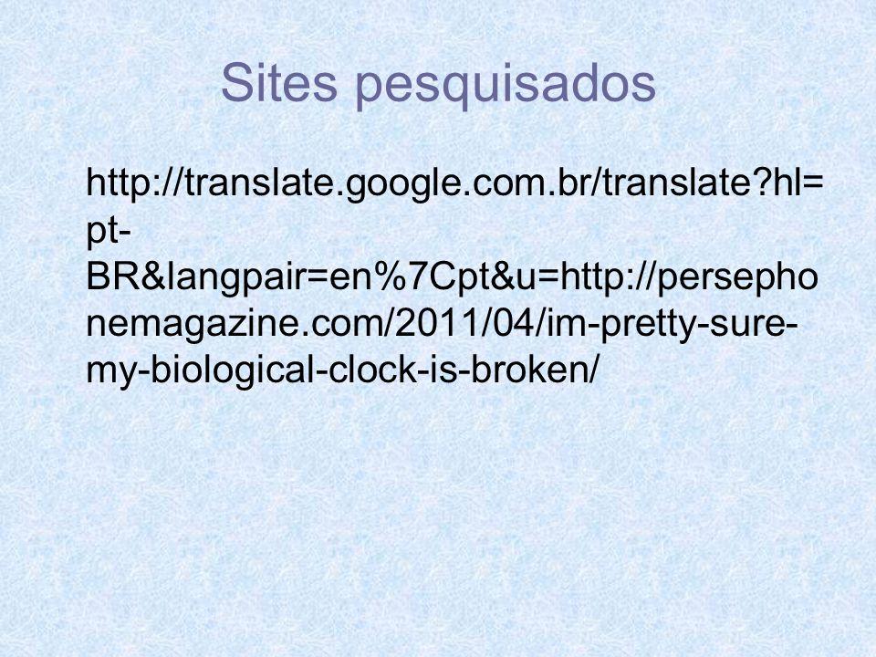 Sites pesquisados
