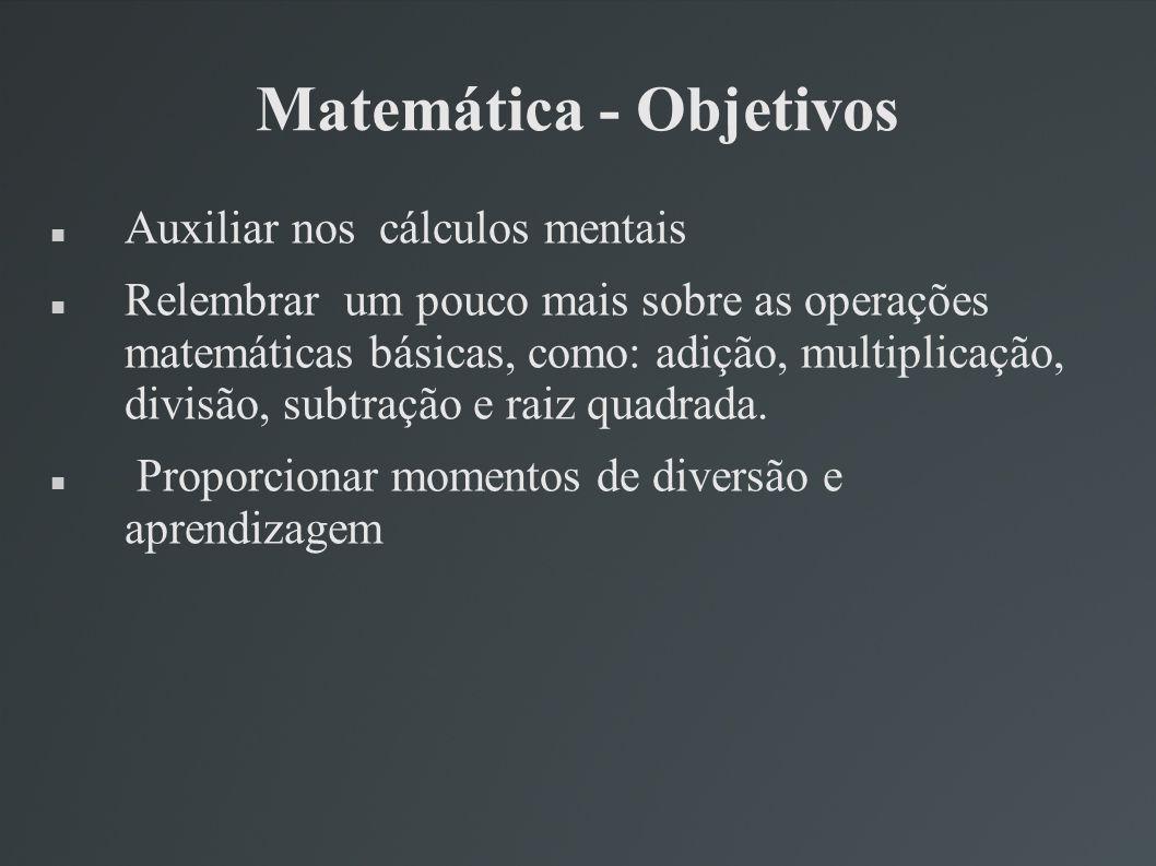 Matemática - Objetivos