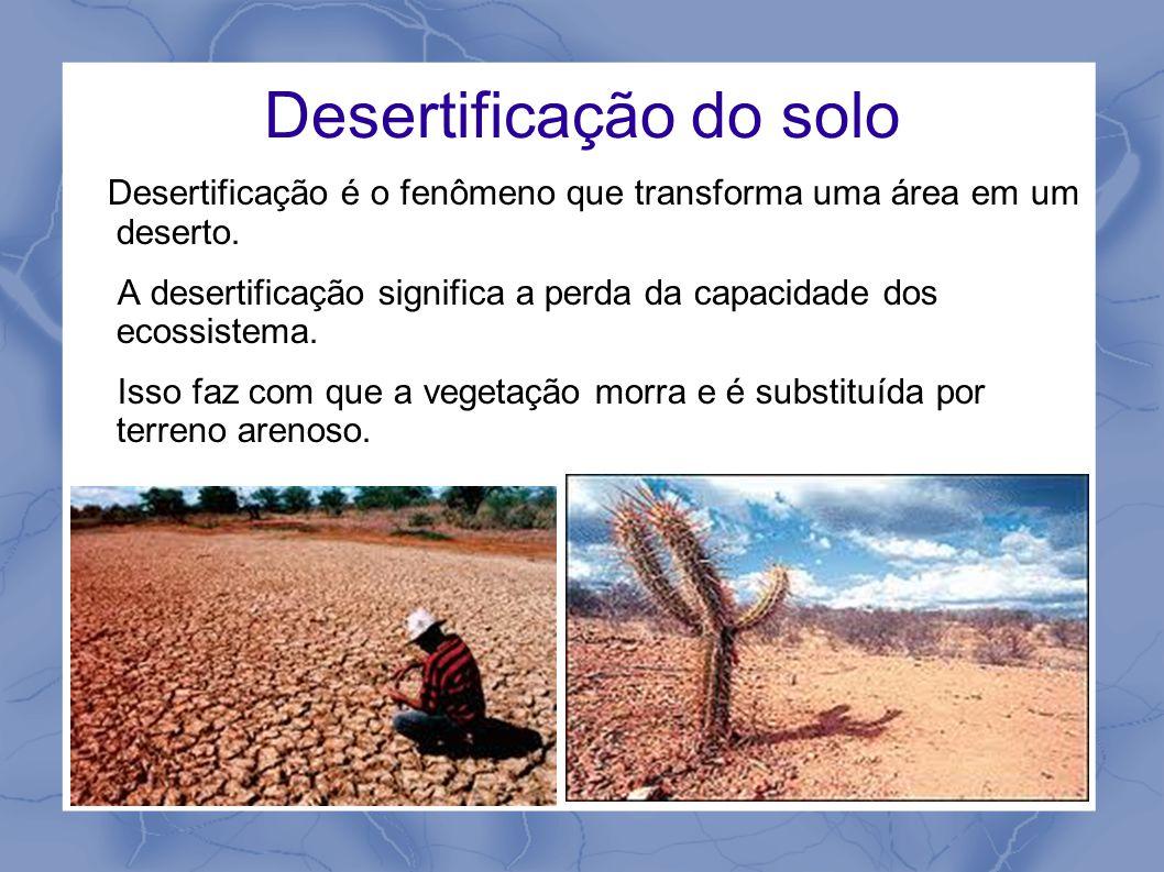 Desertificação do solo