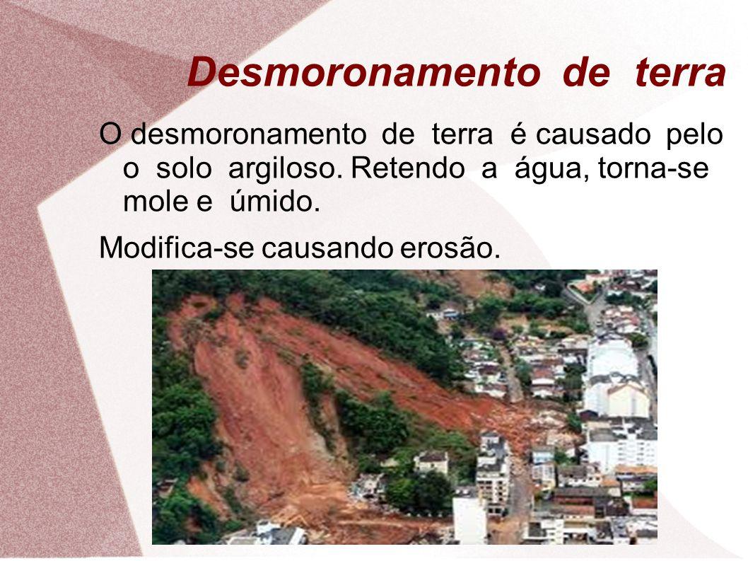 Desmoronamento de terra