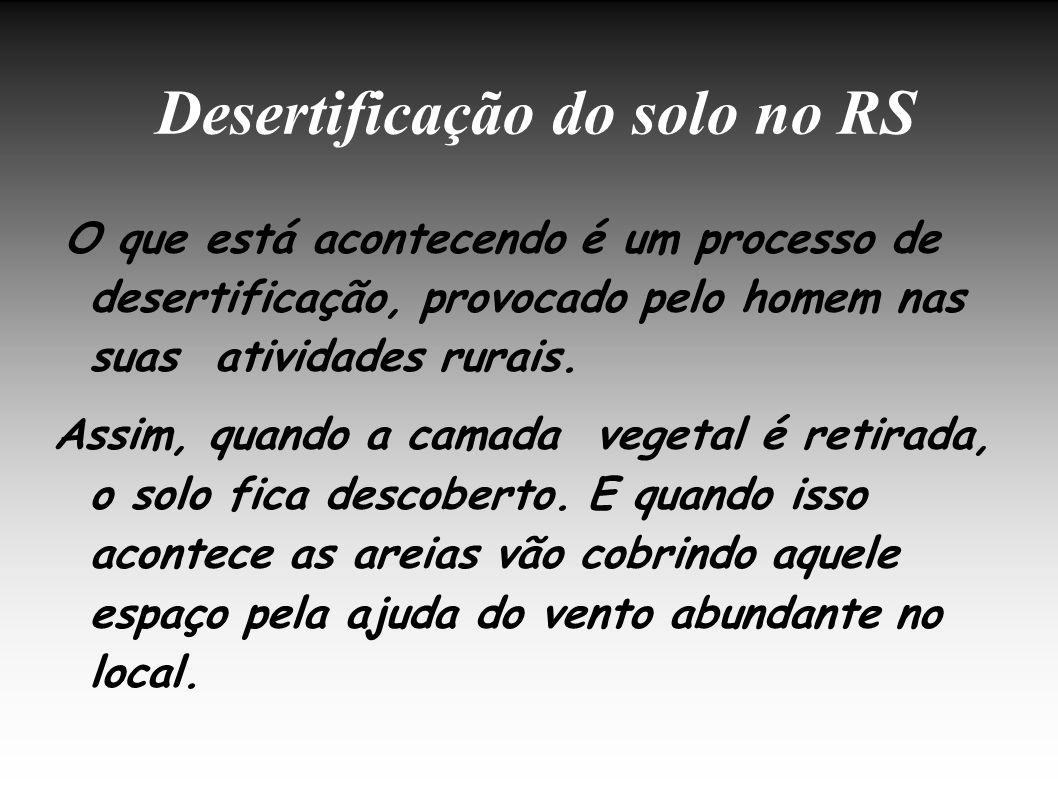 Desertificação do solo no RS