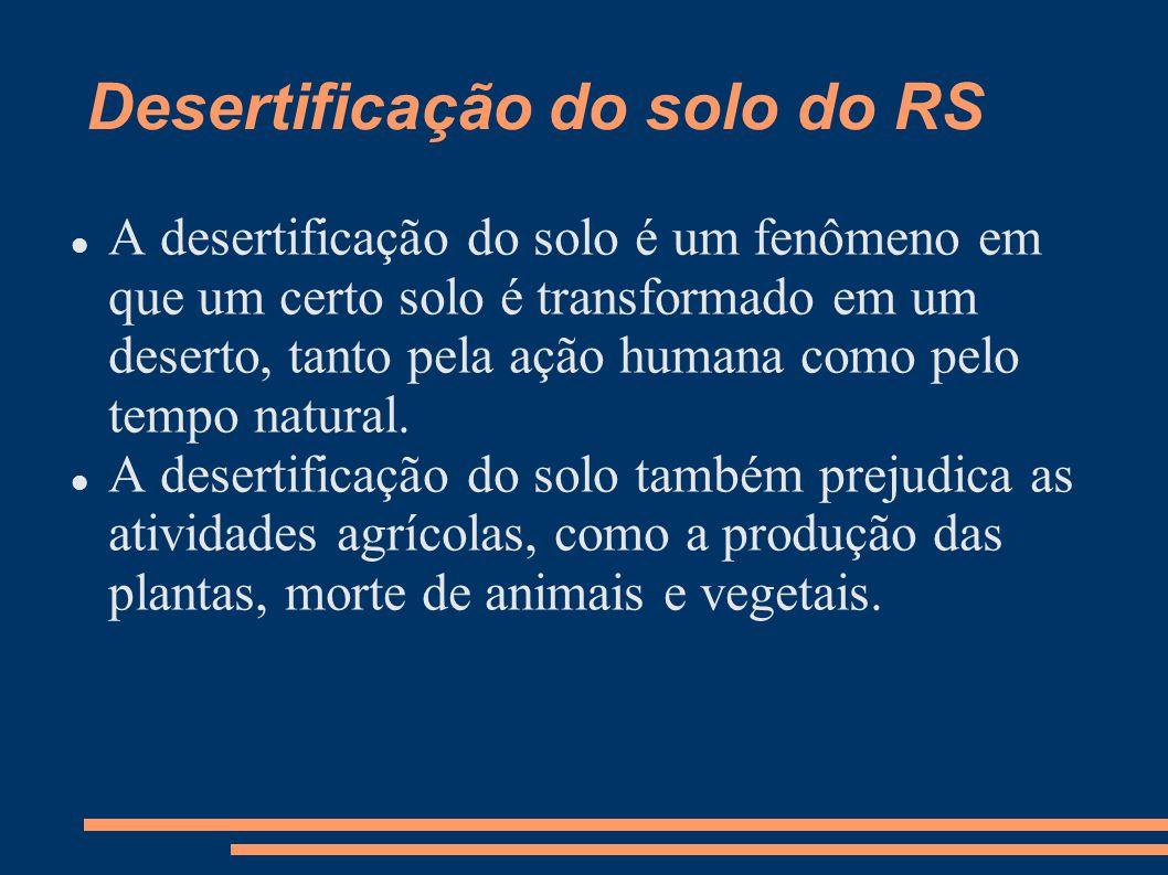 Desertificação do solo do RS