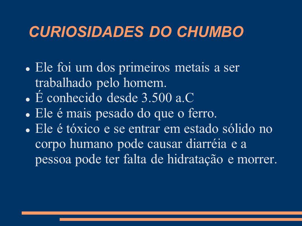 CURIOSIDADES DO CHUMBO