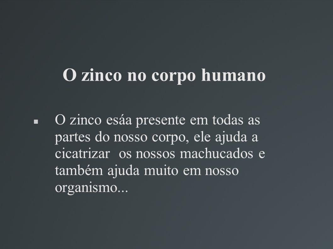 O zinco no corpo humano