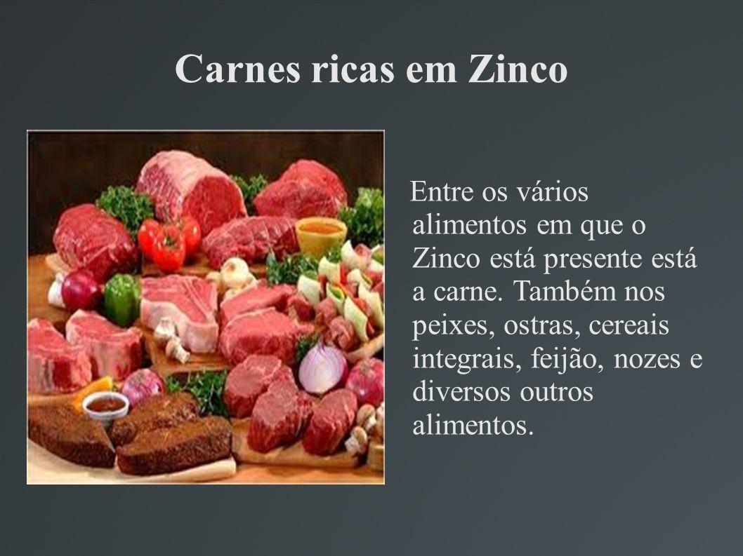 Carnes ricas em Zinco