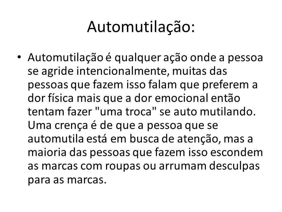 Automutilação: