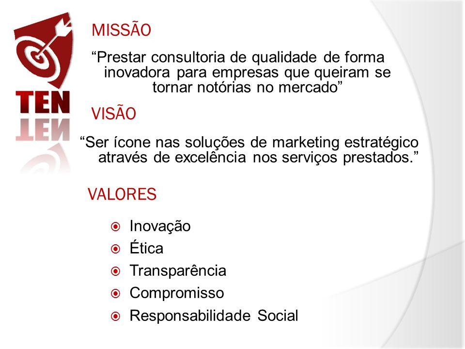 MISSÃO Prestar consultoria de qualidade de forma inovadora para empresas que queiram se tornar notórias no mercado