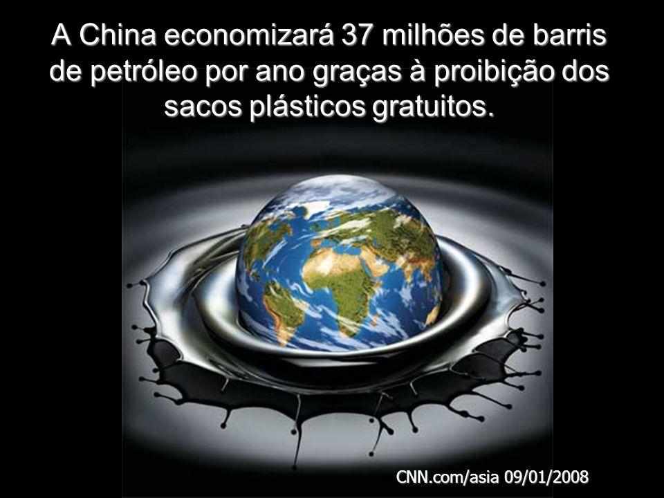 A China economizará 37 milhões de barris de petróleo por ano graças à proibição dos sacos plásticos gratuitos.