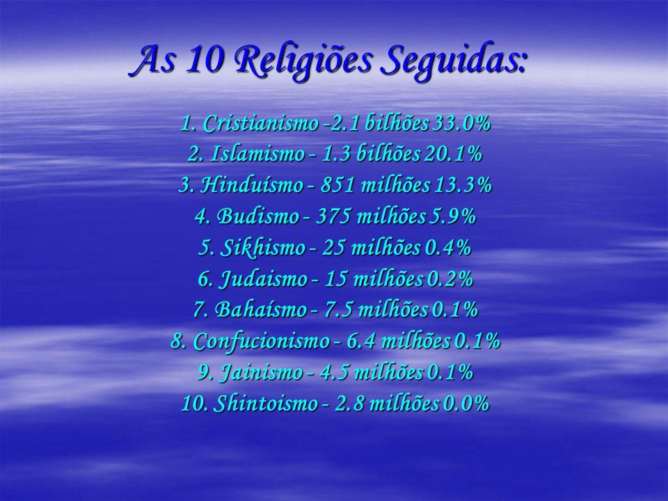 As 10 Religiões Seguidas: