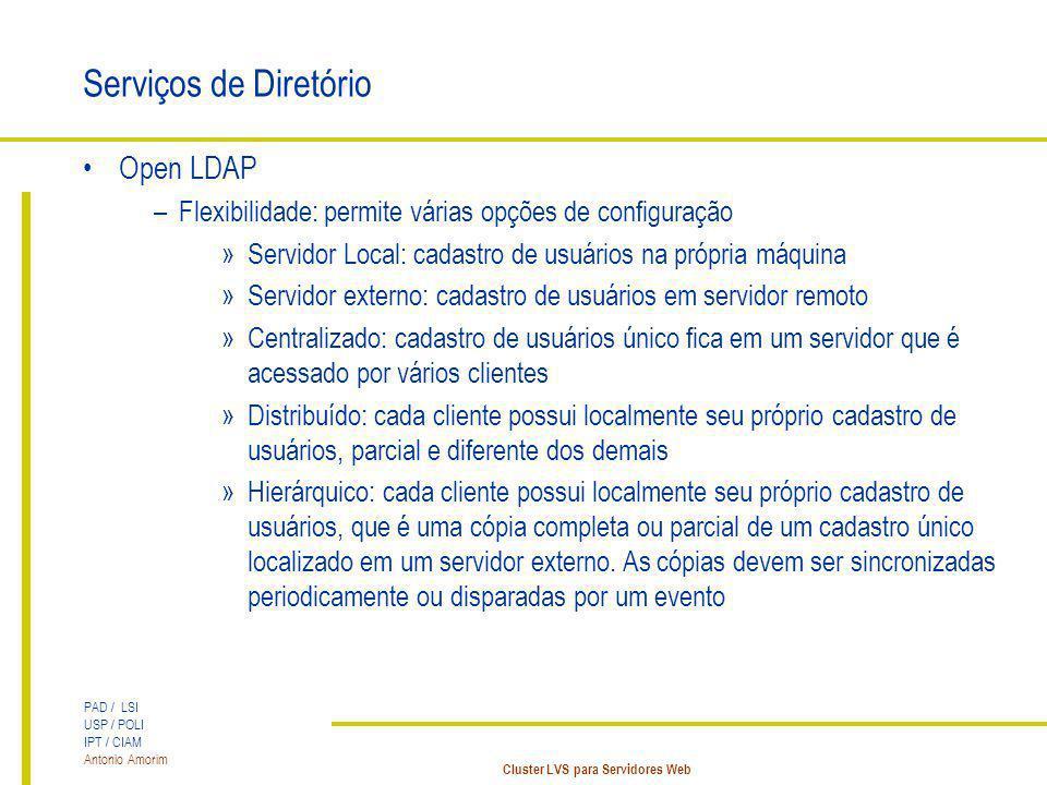 Serviços de Diretório Open LDAP