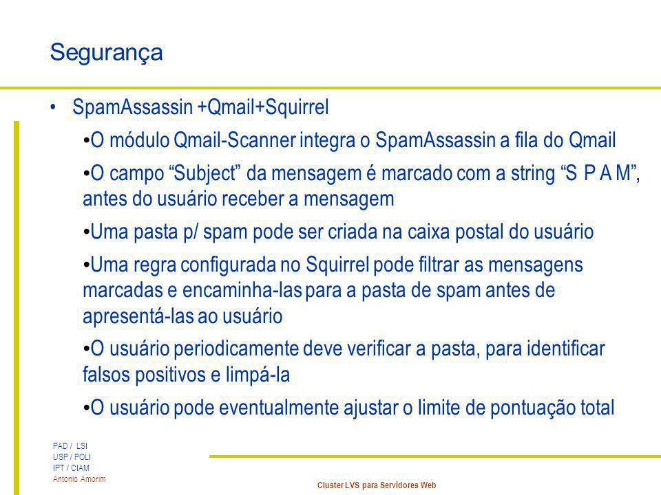 Segurança SpamAssassin +Qmail+Squirrel