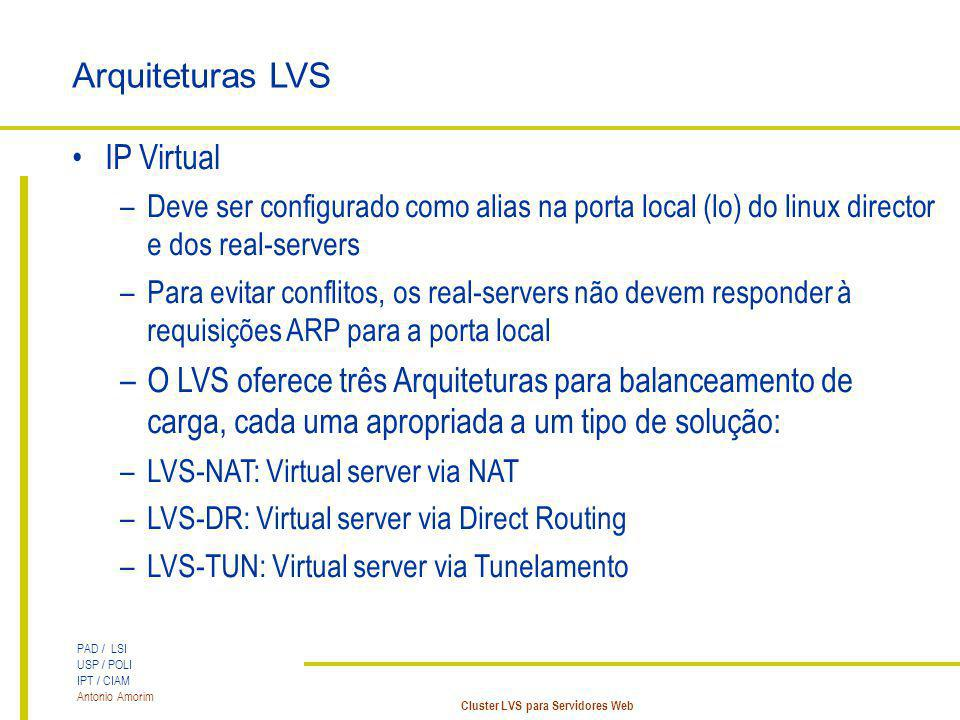 Arquiteturas LVS IP Virtual