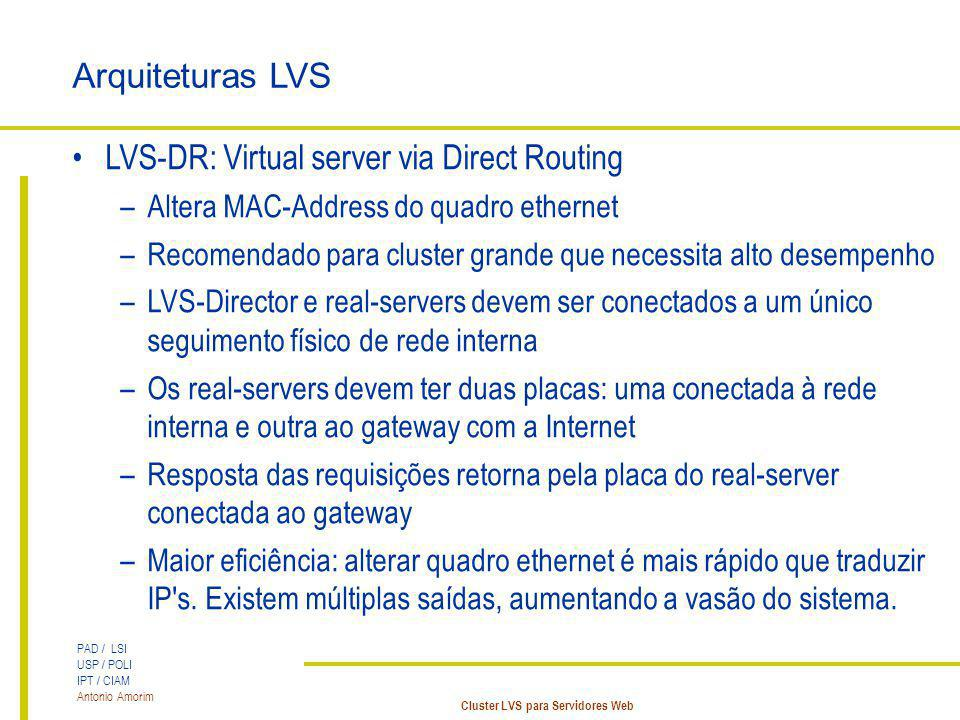 LVS-DR: Virtual server via Direct Routing
