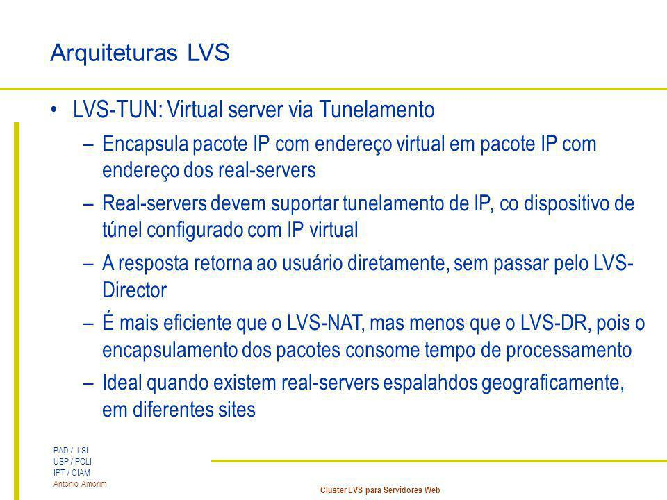LVS-TUN: Virtual server via Tunelamento