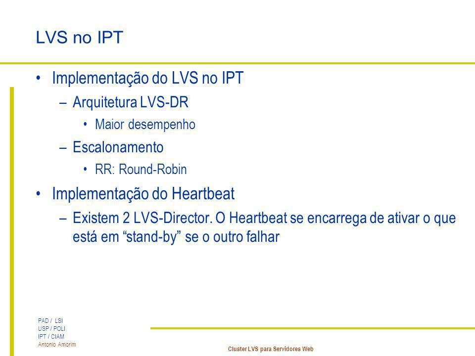 Implementação do LVS no IPT