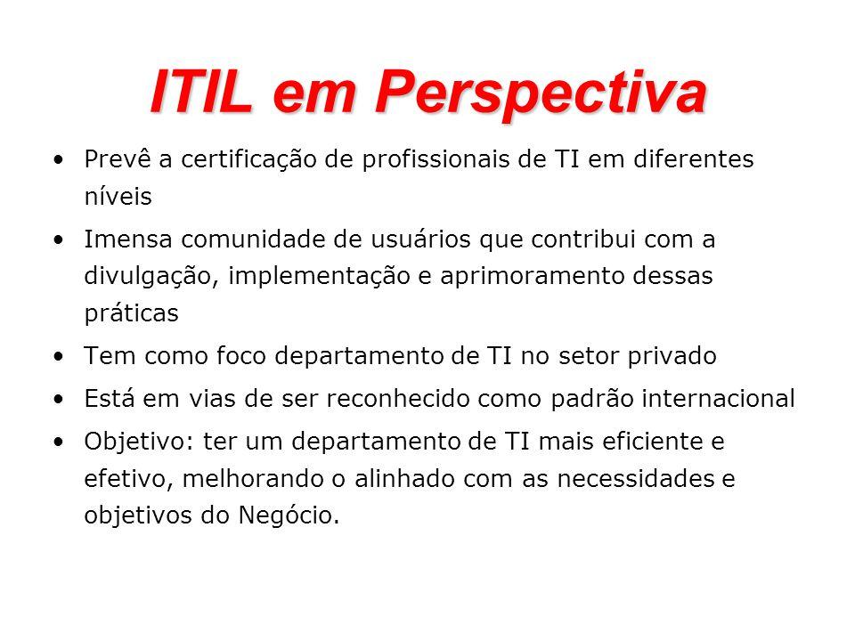 ITIL em Perspectiva Prevê a certificação de profissionais de TI em diferentes níveis.