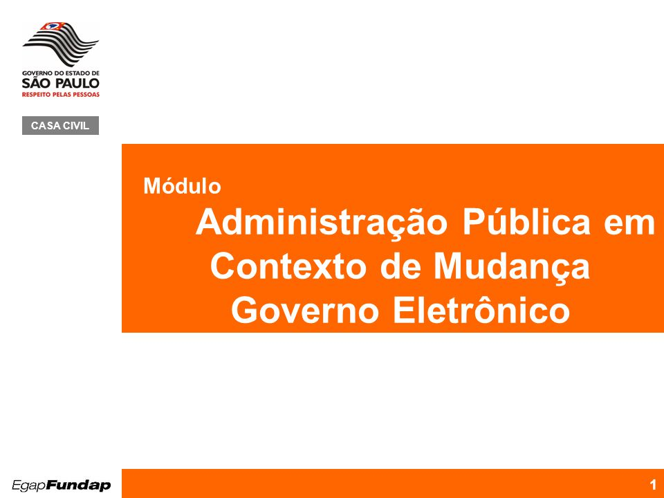 Administração Pública em Contexto de Mudança