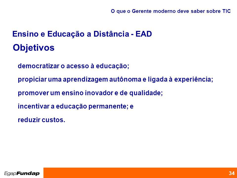 Objetivos Ensino e Educação a Distância - EAD