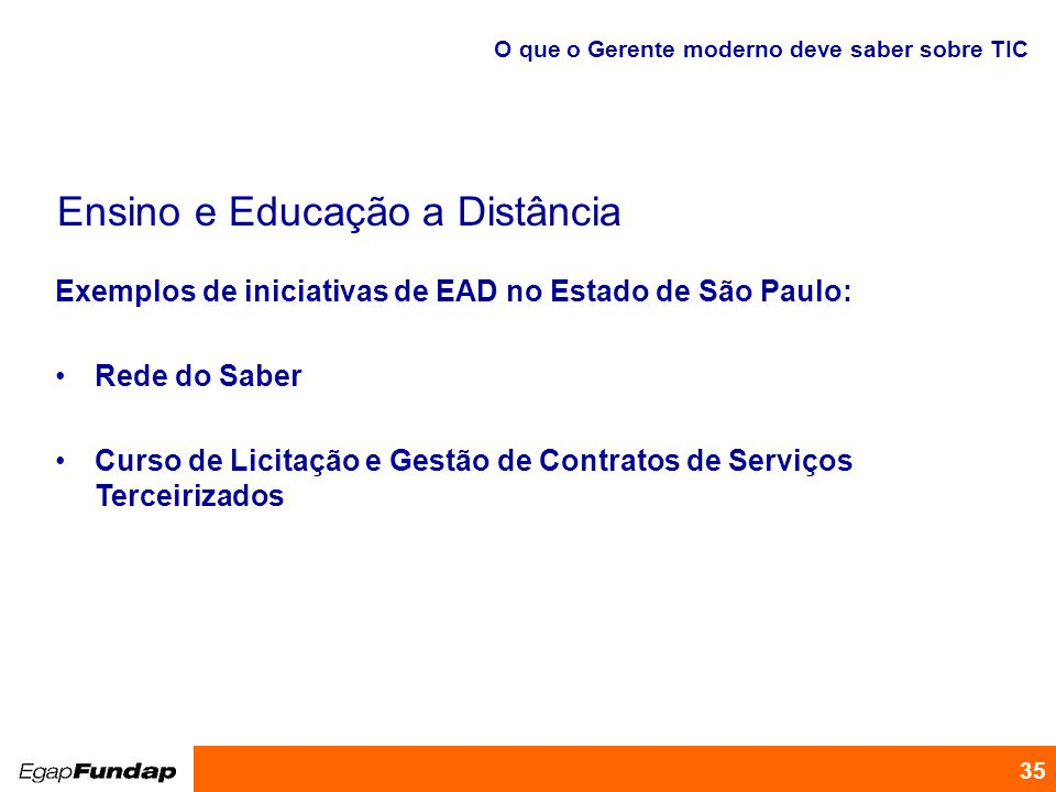 Ensino e Educação a Distância