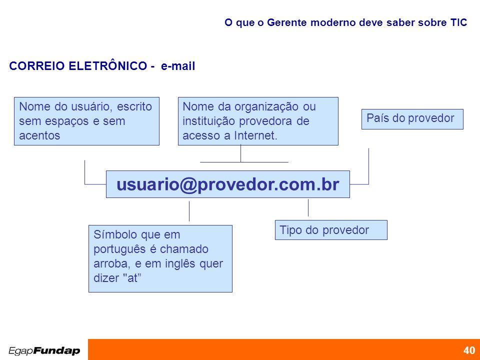 CORREIO ELETRÔNICO - e-mail