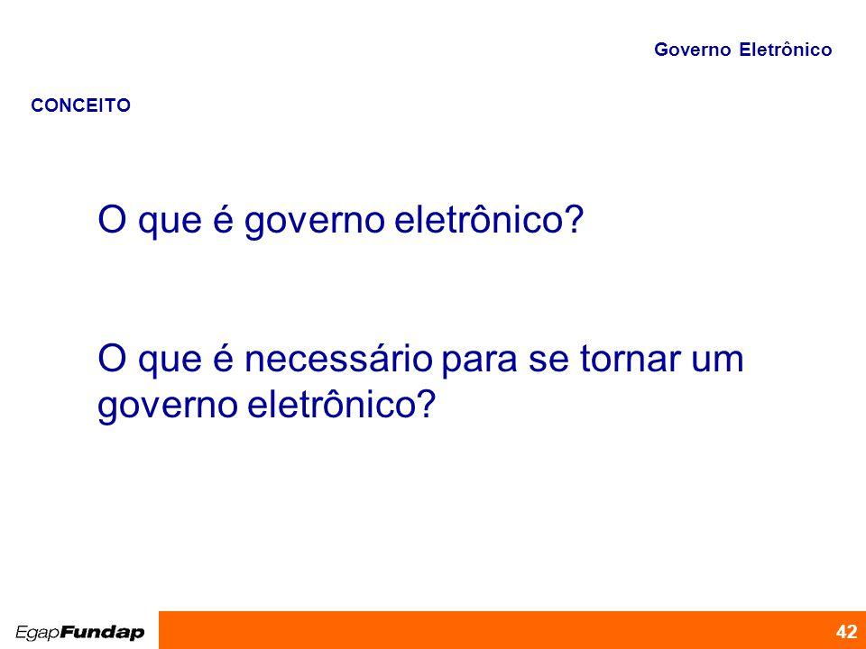 O que é governo eletrônico