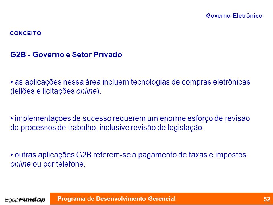 G2B - Governo e Setor Privado