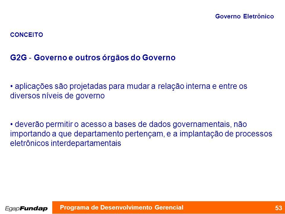 G2G - Governo e outros órgãos do Governo