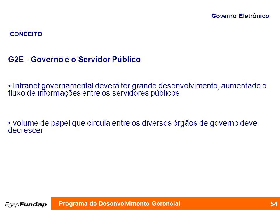 G2E - Governo e o Servidor Público