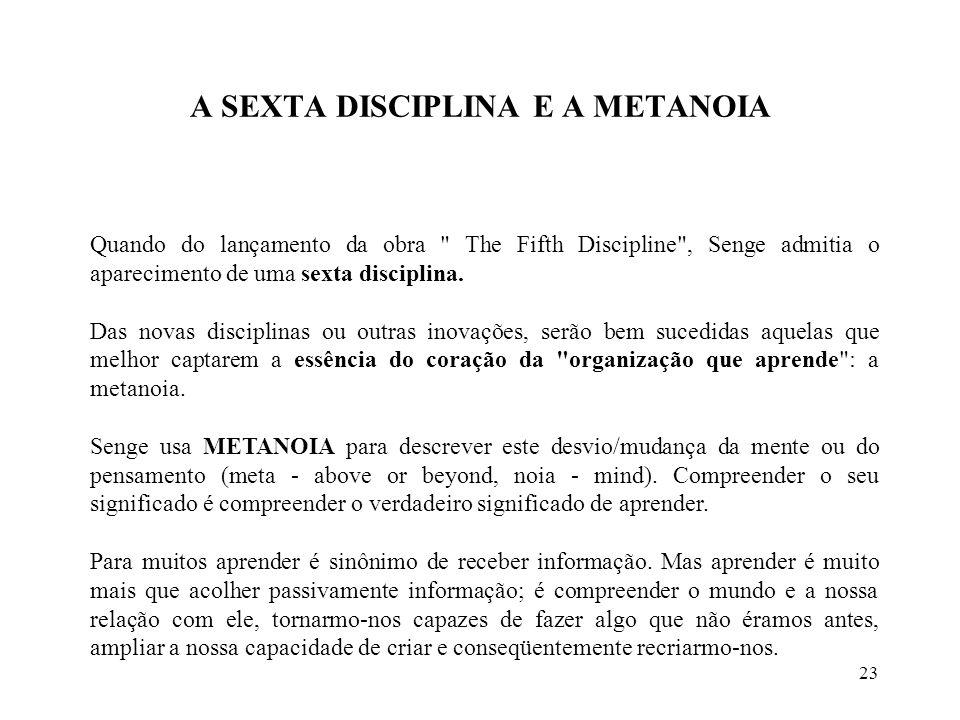 A SEXTA DISCIPLINA E A METANOIA