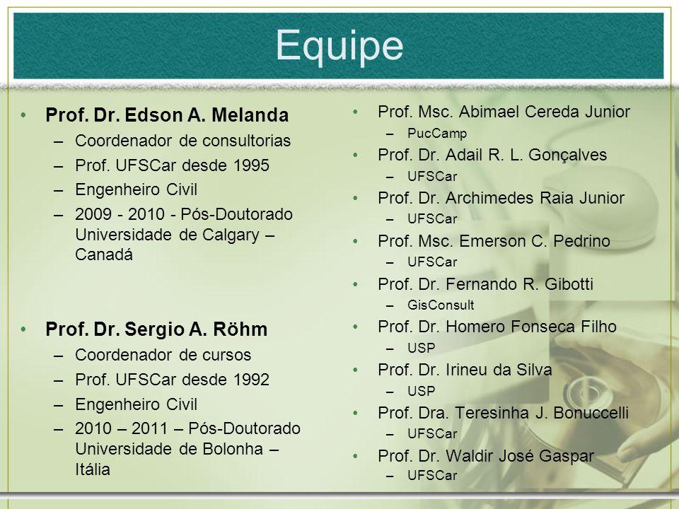 Equipe Prof. Dr. Edson A. Melanda Prof. Dr. Sergio A. Röhm