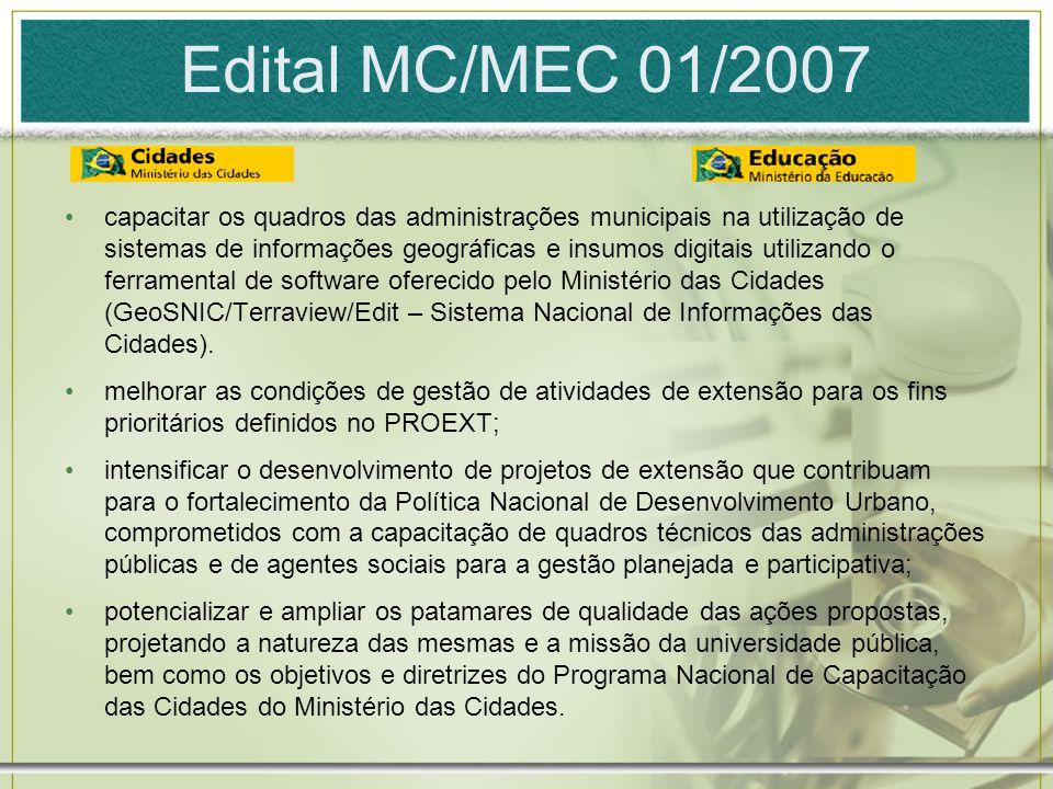 Edital MC/MEC 01/2007