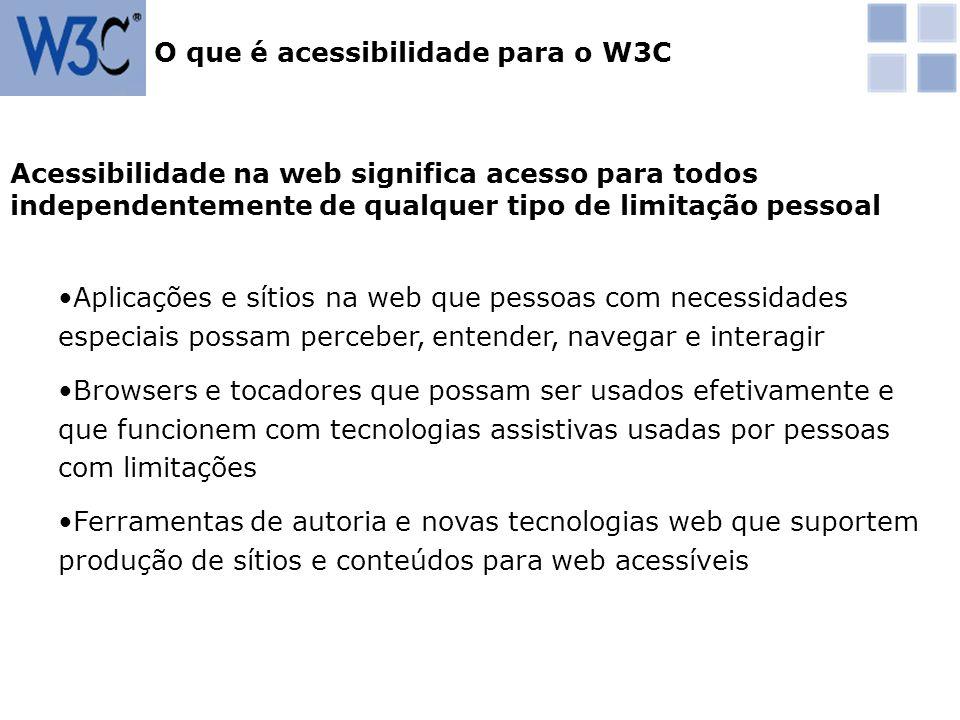 O que é acessibilidade para o W3C