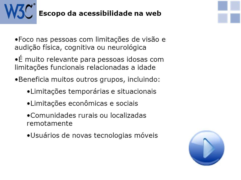 Escopo da acessibilidade na web