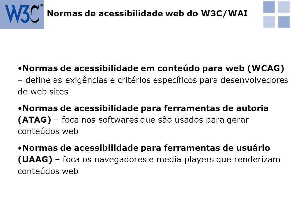 Normas de acessibilidade web do W3C/WAI