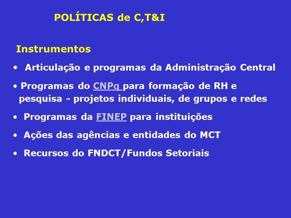 Articulação e programas da Administração Central