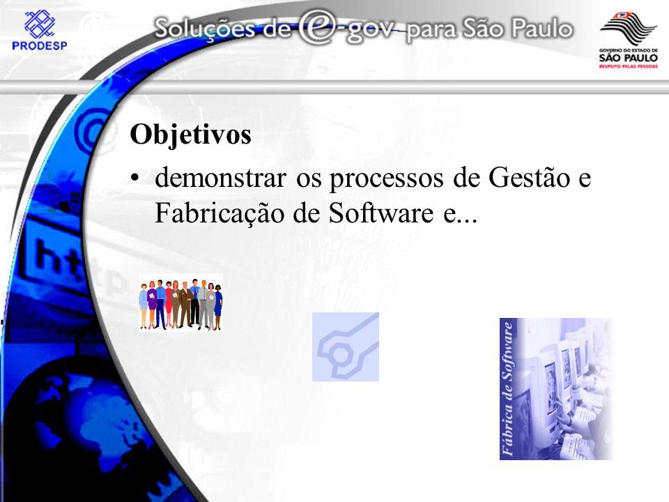 Objetivos demonstrar os processos de Gestão e Fabricação de Software e...