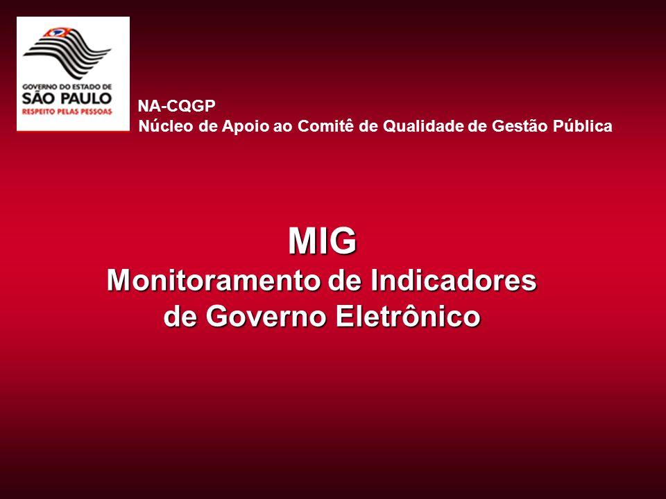 MIG Monitoramento de Indicadores de Governo Eletrônico