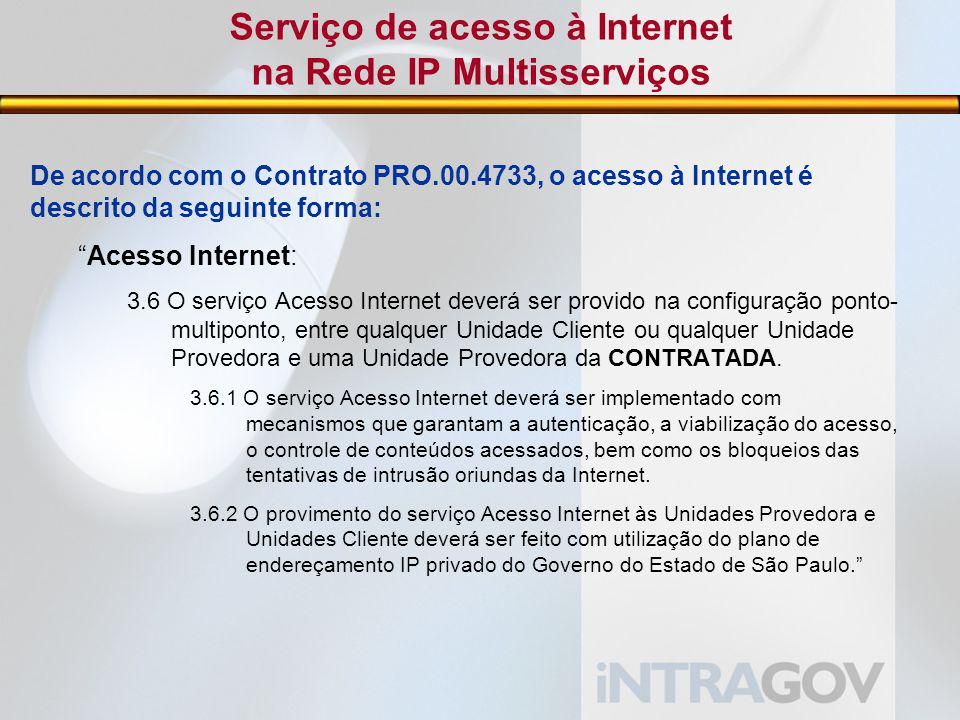 Serviço de acesso à Internet na Rede IP Multisserviços