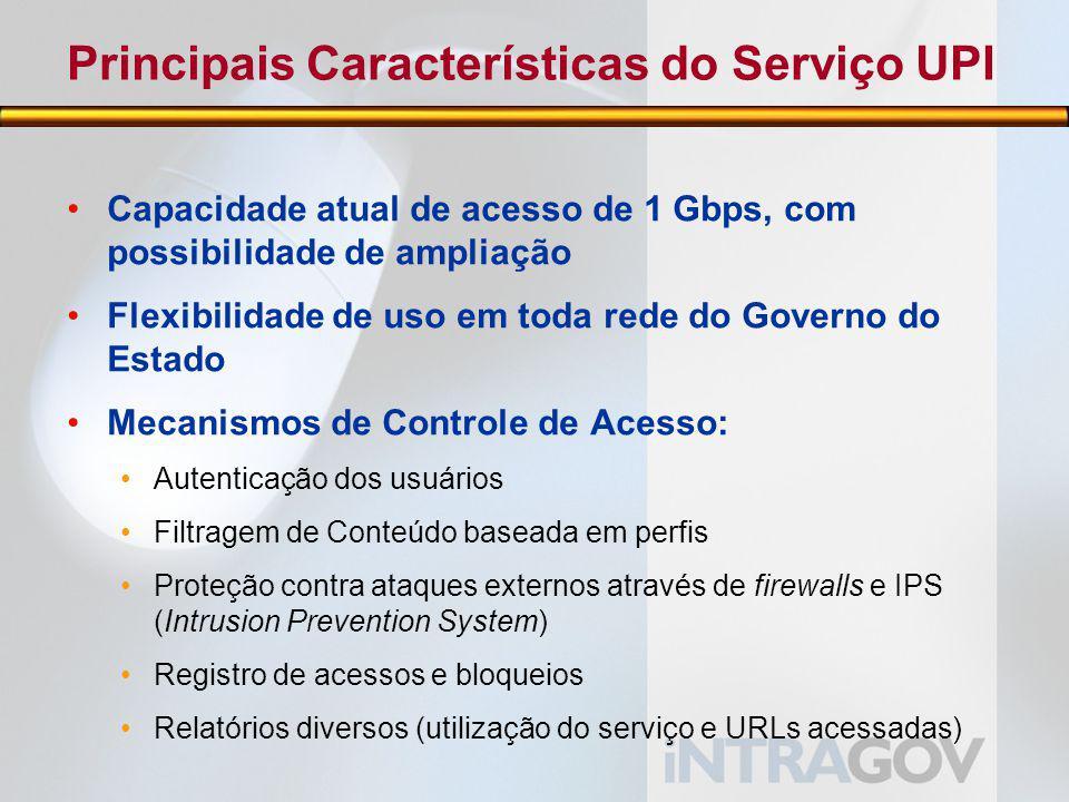 Principais Características do Serviço UPI