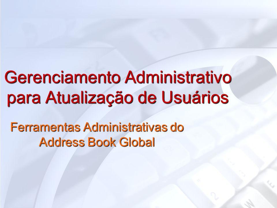 Gerenciamento Administrativo para Atualização de Usuários