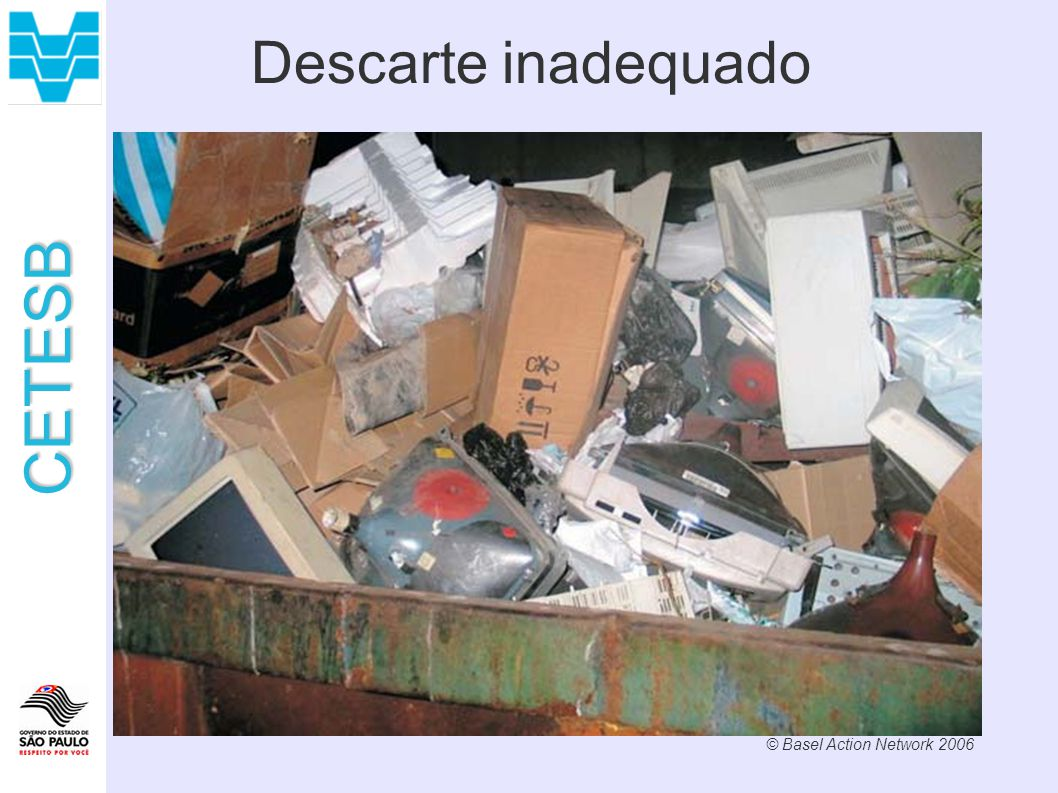 Descarte inadequado © Basel Action Network 2006 10
