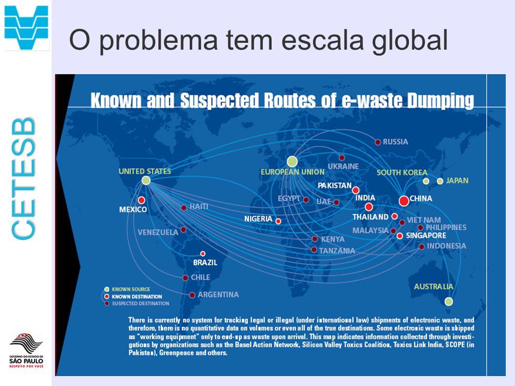 O problema tem escala global