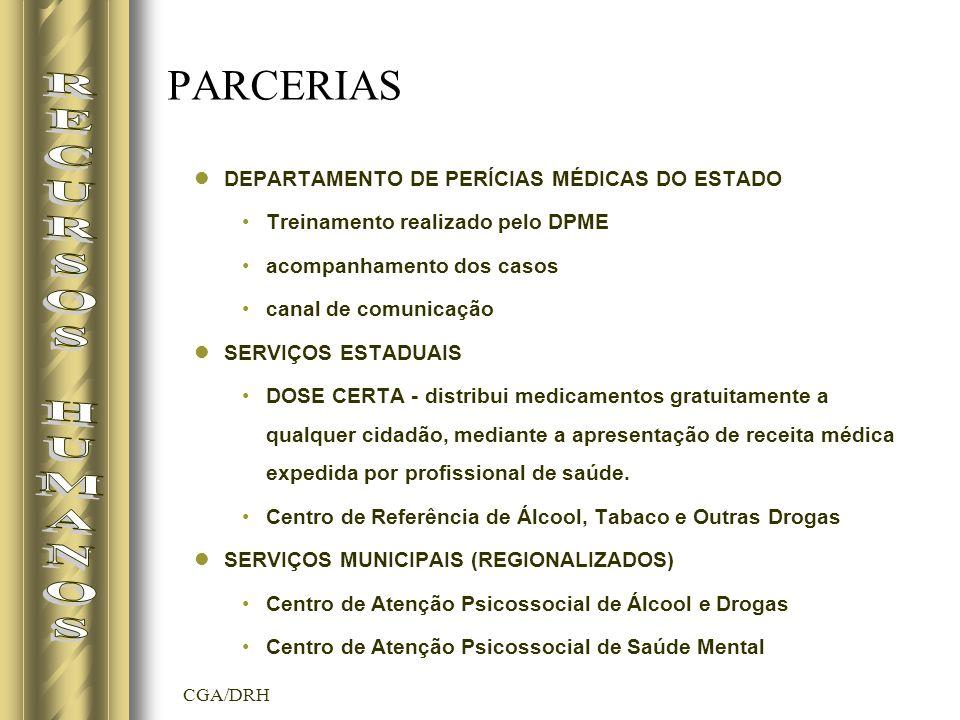 RECURSOS HUMANOS PARCERIAS DEPARTAMENTO DE PERÍCIAS MÉDICAS DO ESTADO
