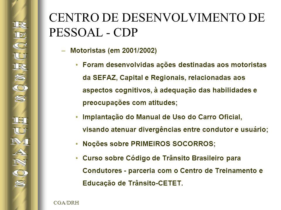 CENTRO DE DESENVOLVIMENTO DE PESSOAL - CDP