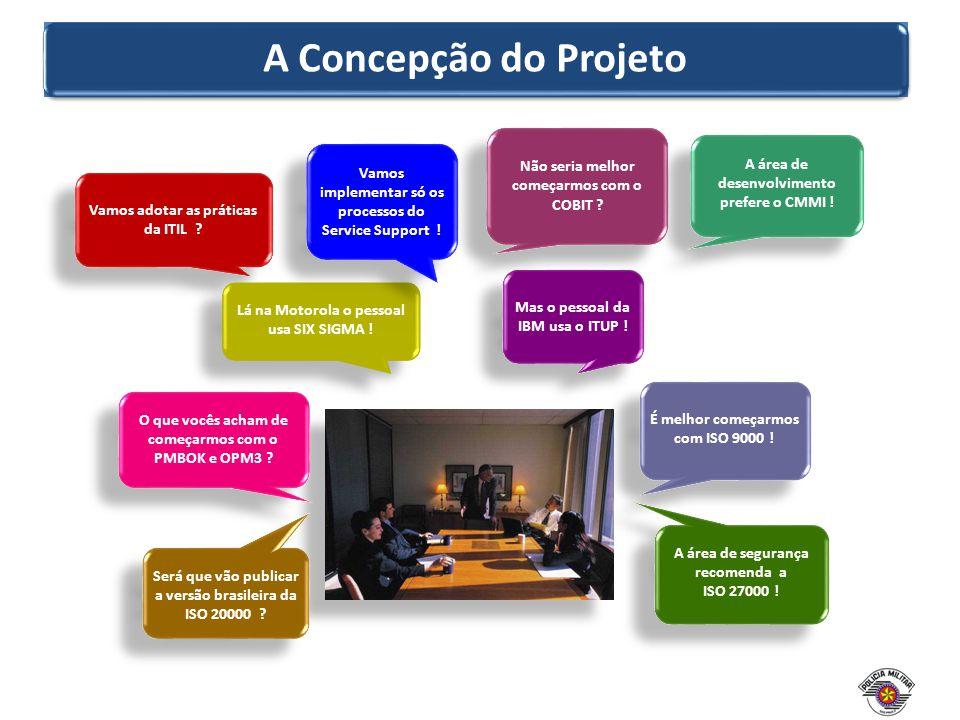 A Concepção do Projeto Não seria melhor começarmos com o COBIT