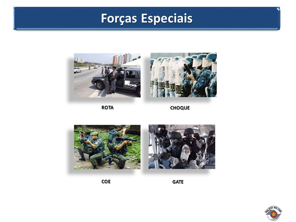 Forças Especiais ROTA CHOQUE COE GATE